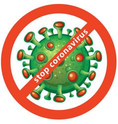 Abstract symbol coronavirus vector