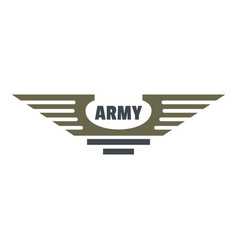army icon logo flat style vector image