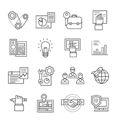 Assembly Line Icon Set vector image