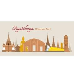 Ayutthaya Historical Park Thailand vector