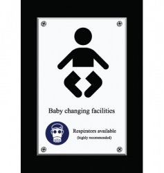 Baby changing sign vector