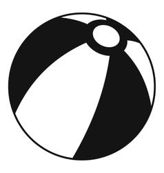Beach ball icon simple style vector