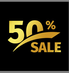 Black banner discount purchase 50 percent sale vector