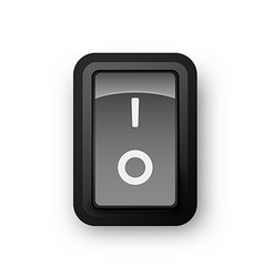 Black pc electric switch off position vector image vector image