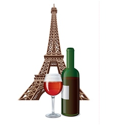 bottle of french wine vector image