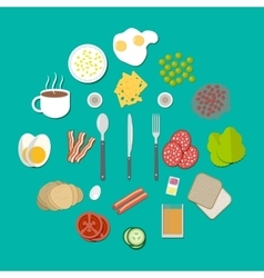 Breakfast components set vector