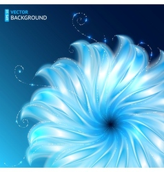 Bright abstract cosmic flower background vector image