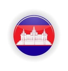 Cambodia icon circle vector