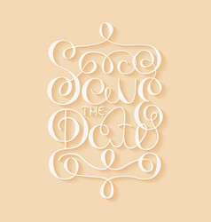 card with handdrawn typography design element vector image