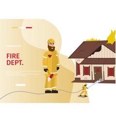 cartoon concept firefighter vector image