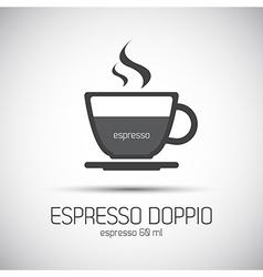 Cup of espresso doppio simple icon vector