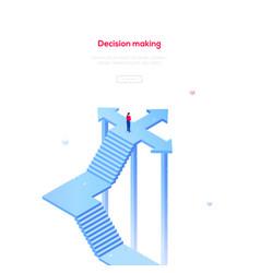 decision making - modern isometric web vector image