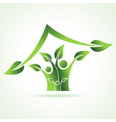 eco family icon make home vector image