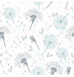 elegant simple pattern with dandelions vector image