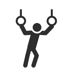 extreme gymnastics rings sport active lifestyle vector image