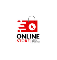 fast online shopping or e-commerce logo vector image