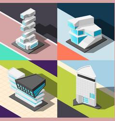 Futuristic architecture 2x2 design concept vector