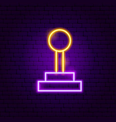 Game joystick neon sign vector