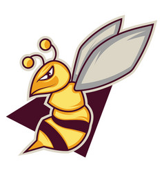 Gaming logo a bee on white background vector