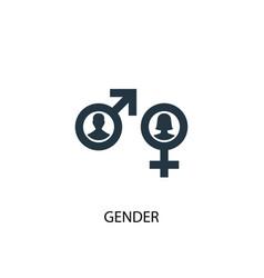 gender icon simple element gender vector image