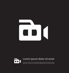 Isolated camcorder icon recording element vector