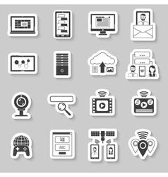 It Stickers Set vector