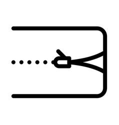 Mattress cover zipper icon outline vector