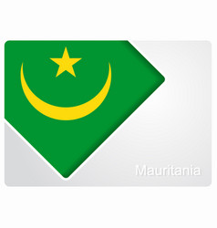 mauritanian flag design background vector image