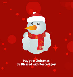 merry christmas creative design with red vector image
