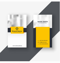 Modern yellow business card design vector