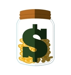 money save glass flat icon vector image vector image