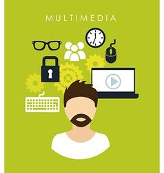 multimedia design vector image