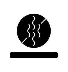 Odor resistant textile feature black glyph icon vector