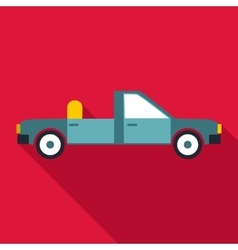 Open car icon flat style vector