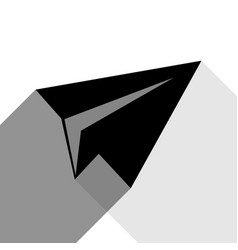 Paper airplane sign black icon with two vector