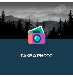 Photo camera web icon flat design vector image