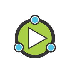 play logo icon vector image
