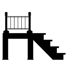 porch the black color icon vector image vector image