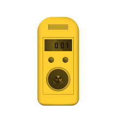 radiation dosimeter vector image