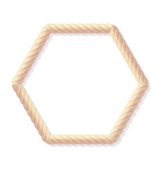 realistic rope frame vector image