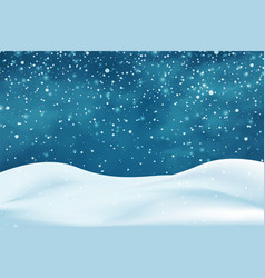 Realistic snowdrifts winter snowy abstract vector