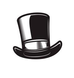 retro gentleman hat in engraving style design vector image