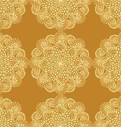 Retro patterned wallpaper vector