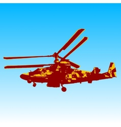 Russian helicopter Ka-52 alligator vector image