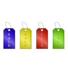 sale tags set isolated on a white background vector image