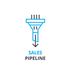Sales pipeline concept outline icon linear sign vector