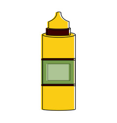 sauces bottle isolated vector image