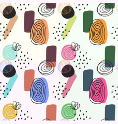 seamless patterns in beautiful scandinavian style vector image