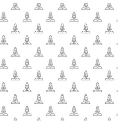 simple rocket and spaceship seamless pattern with vector image