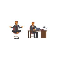 smart businessman character vector image